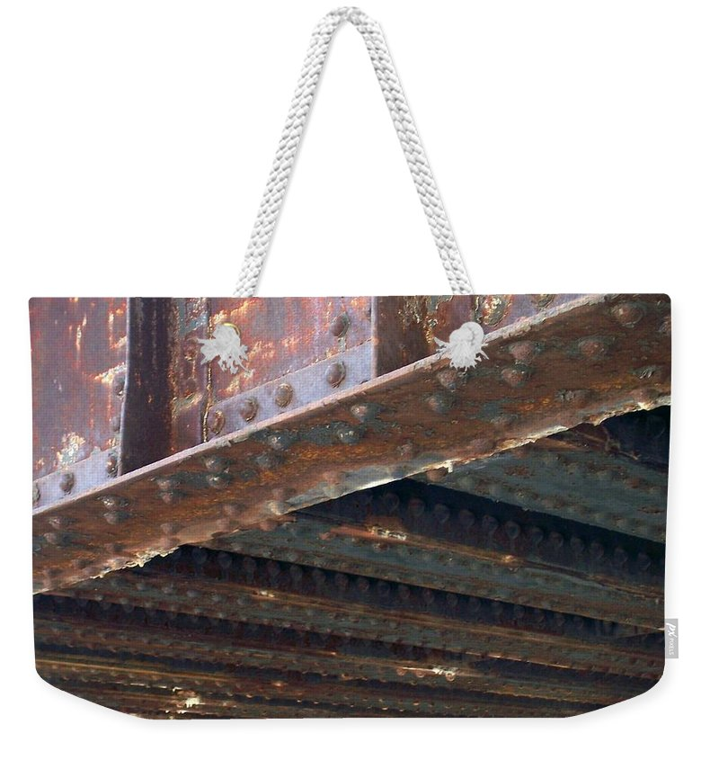 Urban Weekender Tote Bag featuring the photograph Abstract Rust 4 by Anita Burgermeister