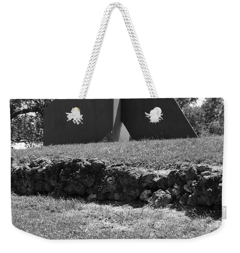 Black And White Weekender Tote Bag featuring the photograph Abstract Sculpture by Rob Hans