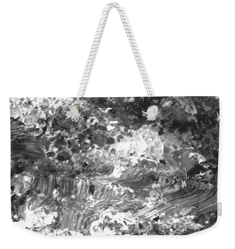 Abstract Weekender Tote Bag featuring the painting Abstract Series 070815 A3 by Mas Art Studio