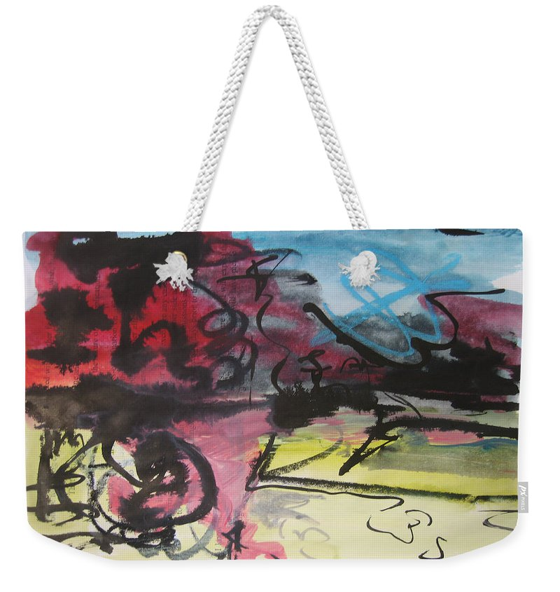 Landscape Painting Weekender Tote Bag featuring the painting Abstract Sketch18 by Seon-Jeong Kim