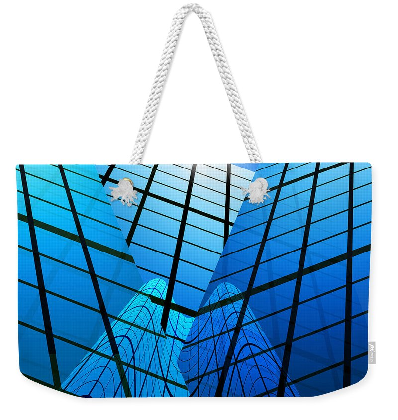 Abstract Weekender Tote Bag featuring the photograph Abstract Skyscrapers by Setsiri Silapasuwanchai