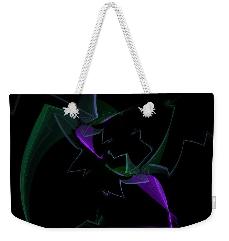 Digital Painting Weekender Tote Bag featuring the digital art Abstract Still Life by David Lane