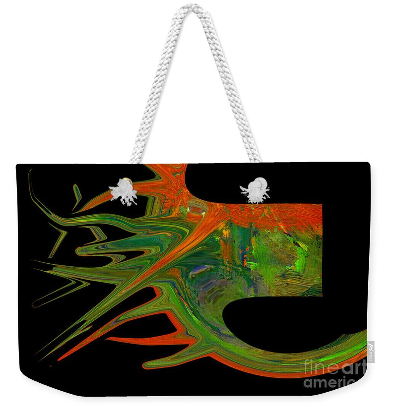 Abstract Weekender Tote Bag featuring the photograph Abstract Tenticles by Jeff Swan