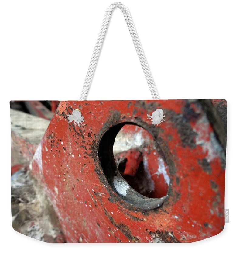 Textures Weekender Tote Bag featuring the photograph Abstract Textures by Trish Hale