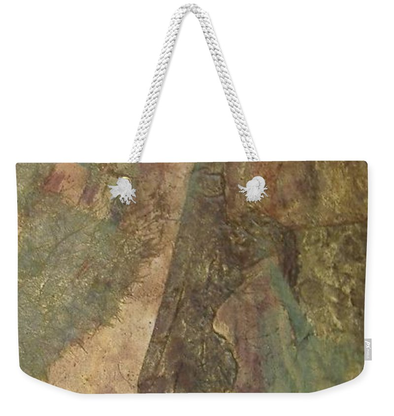 Abstract Weekender Tote Bag featuring the mixed media Abstract Three by Pat Snook
