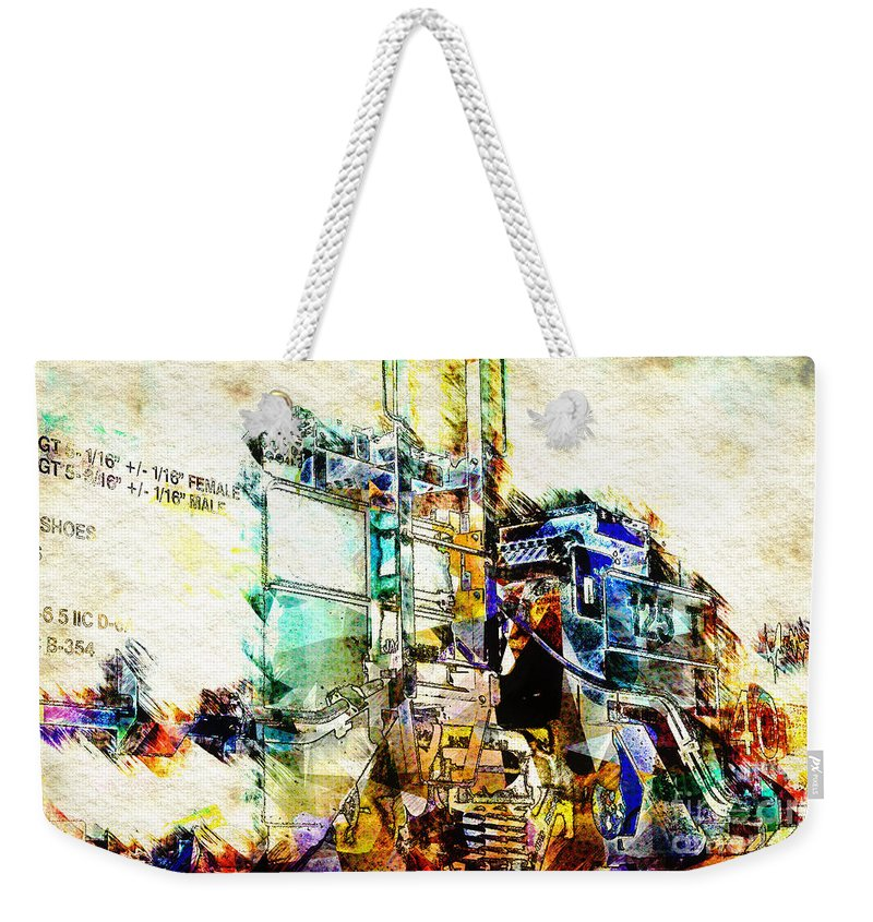 Abstract Weekender Tote Bag featuring the digital art Abstract Train by Davy Cheng