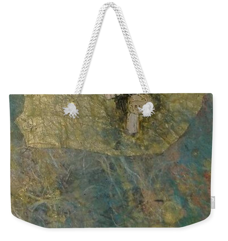 Abstract Weekender Tote Bag featuring the mixed media Abstract Two by Pat Snook