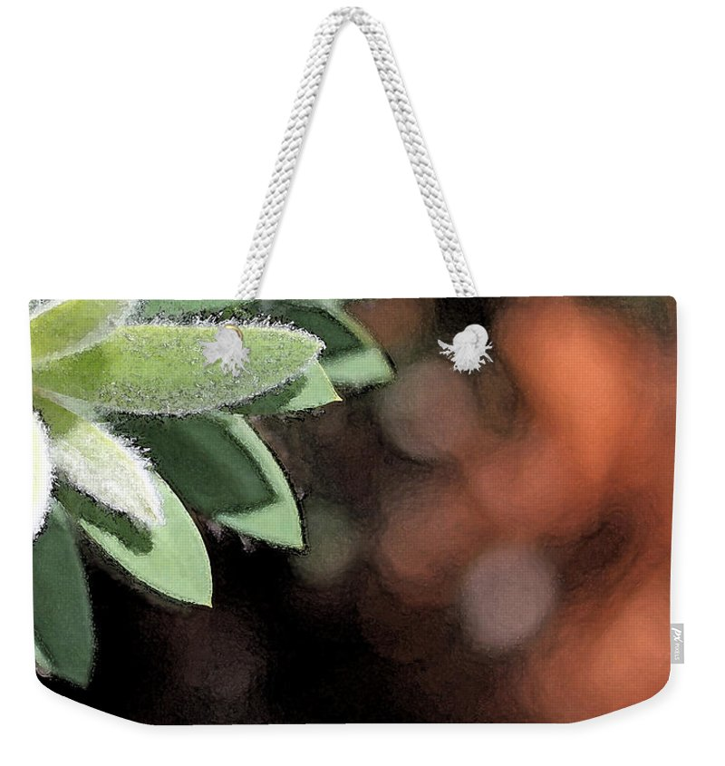 Abstract Weekender Tote Bag featuring the photograph Abstract Watercolor by Judy Vincent