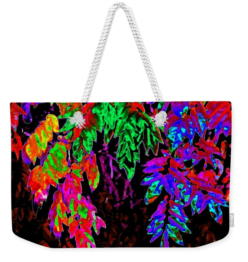 Abstract Weekender Tote Bag featuring the digital art Abstract Wisteria by Will Borden