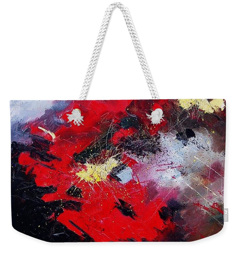 Abstract Weekender Tote Bag featuring the painting Abstract070406 by Pol Ledent