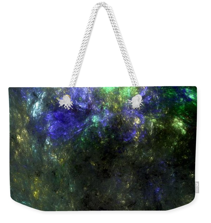 Abstract Expressionism Weekender Tote Bag featuring the digital art Abstract08-14-09 by David Lane