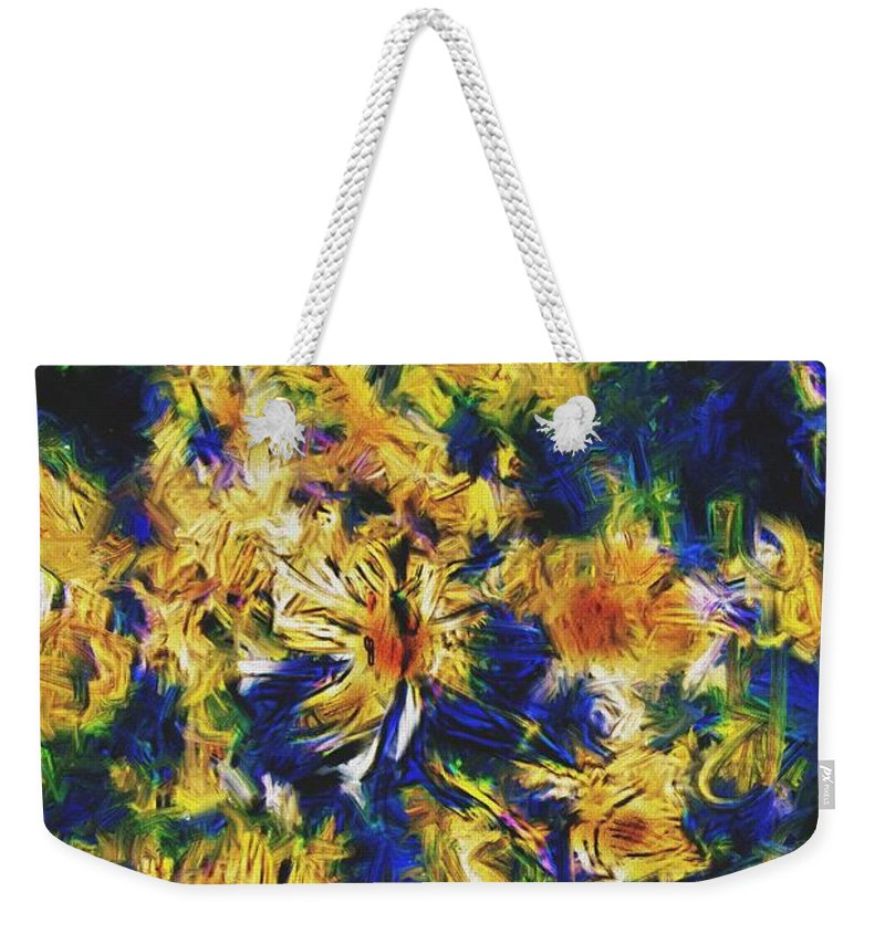 Abstract Digital Painting Weekender Tote Bag featuring the digital art Abstract11-06-09 by David Lane