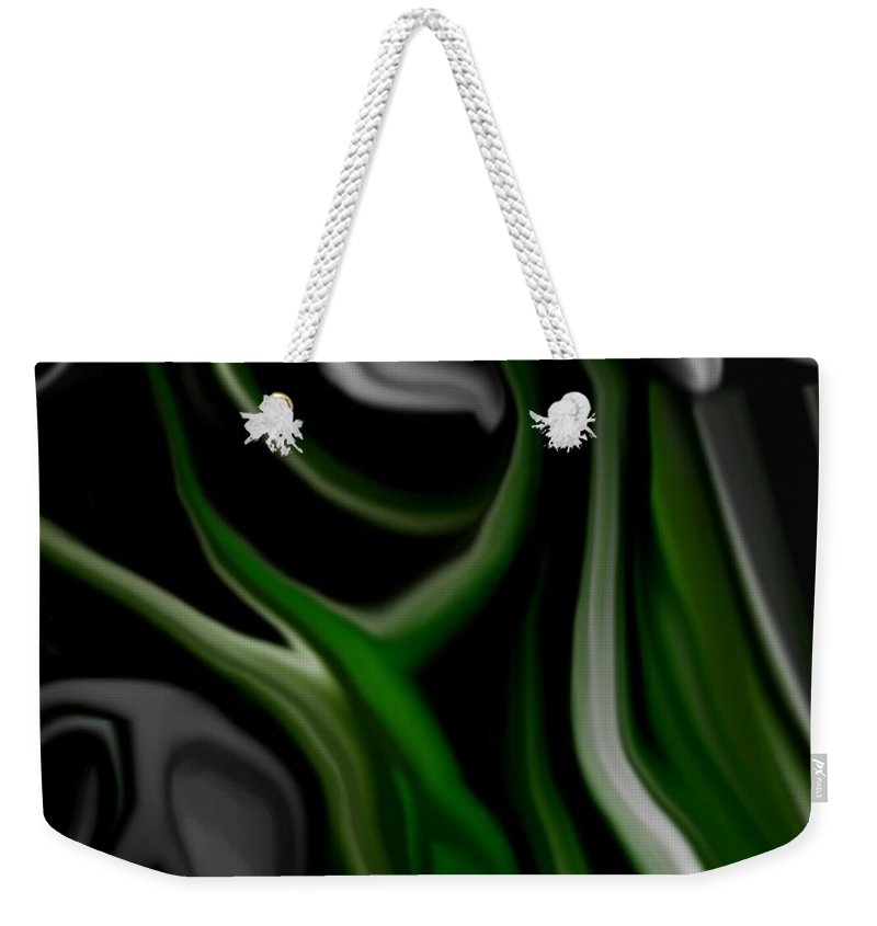 Abstract Weekender Tote Bag featuring the digital art Abstract309h by David Lane