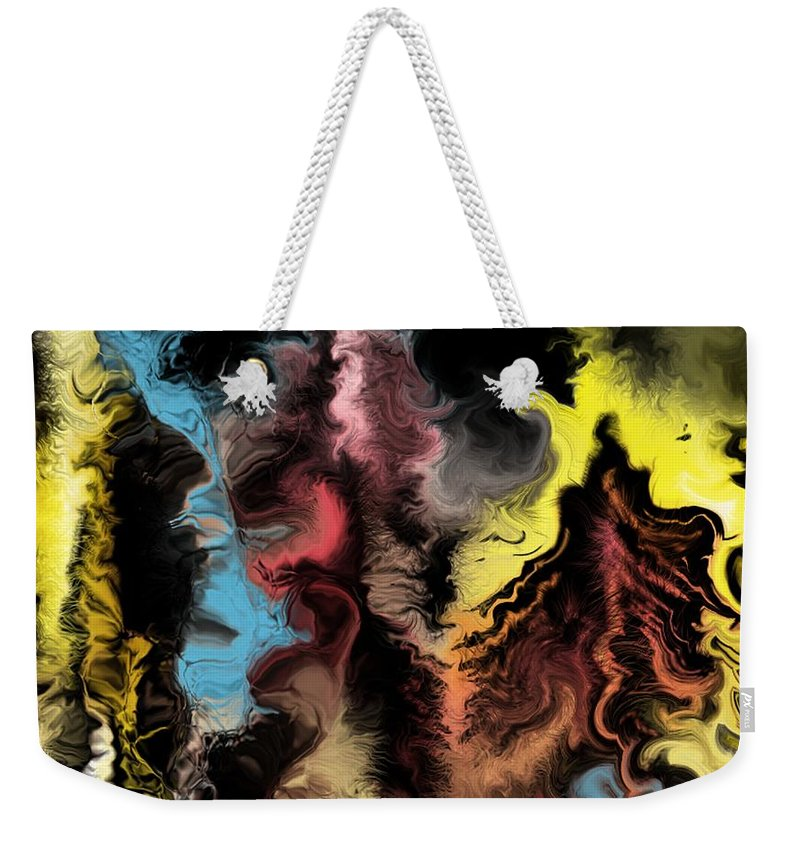 Abstract Weekender Tote Bag featuring the digital art Abstract309i by David Lane