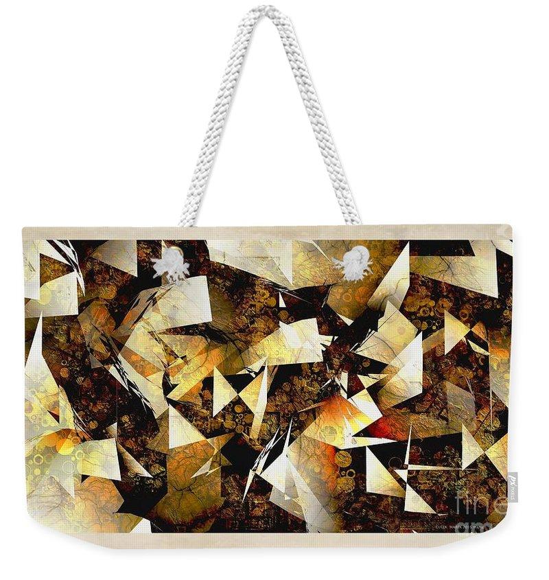 Abstraction Weekender Tote Bag featuring the digital art Abstraction 2398 by Marek Lutek