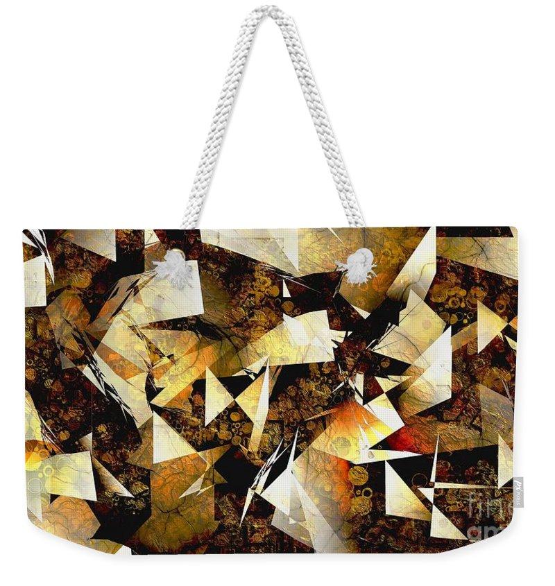 Abstraction Weekender Tote Bag featuring the digital art Abstraction 2399 by Marek Lutek