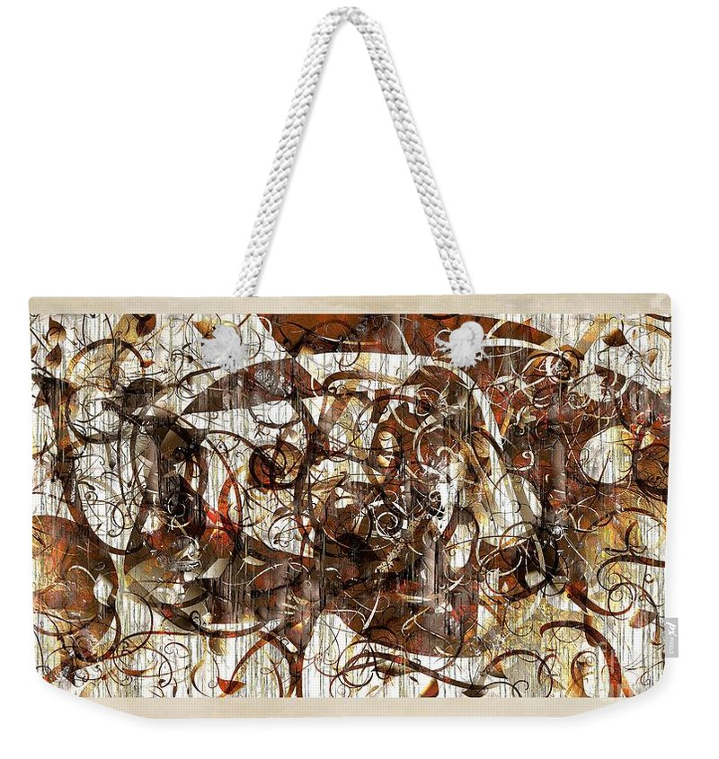 Abstraction Weekender Tote Bag featuring the digital art Abstraction 2406 by Marek Lutek