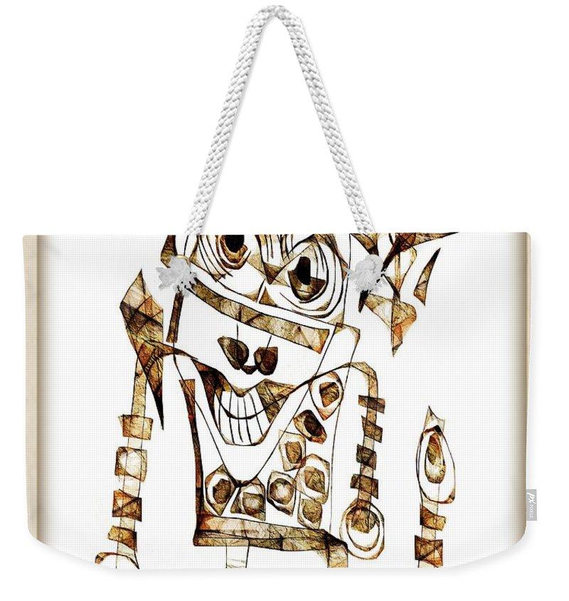 Abstraction Weekender Tote Bag featuring the digital art Abstraction 2422 by Marek Lutek