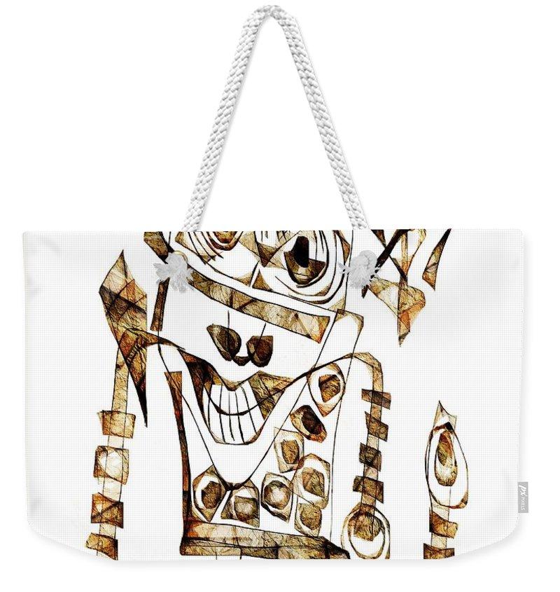 Abstraction Weekender Tote Bag featuring the digital art Abstraction 2423 by Marek Lutek
