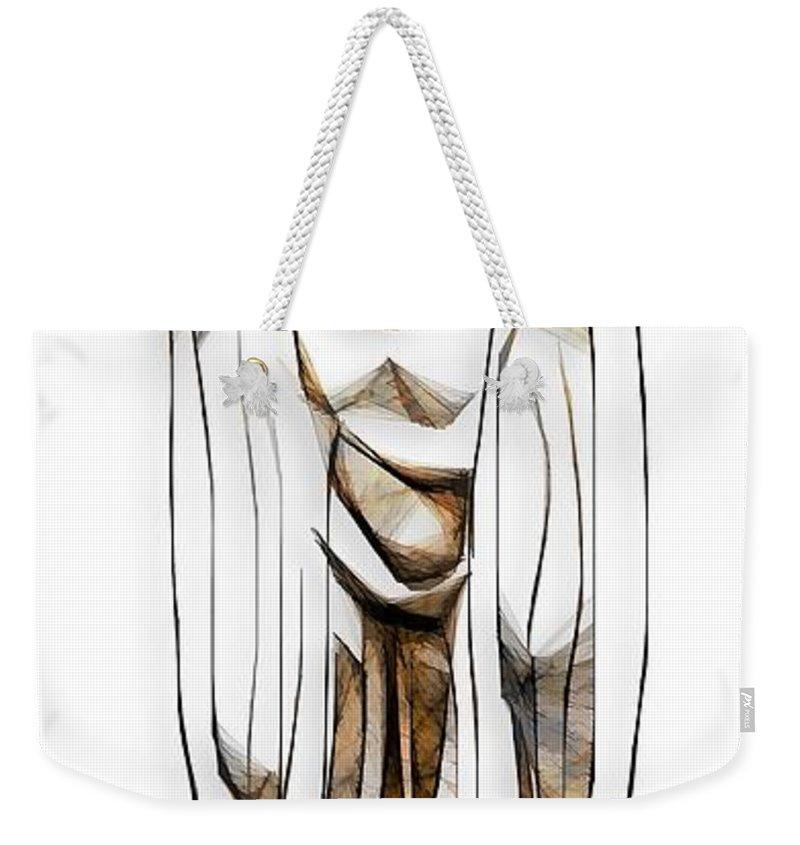 Abstraction Weekender Tote Bag featuring the digital art Abstraction 2427 by Marek Lutek