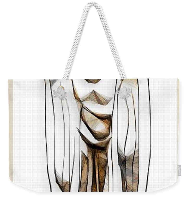 Abstraction Weekender Tote Bag featuring the digital art Abstraction 2428 by Marek Lutek