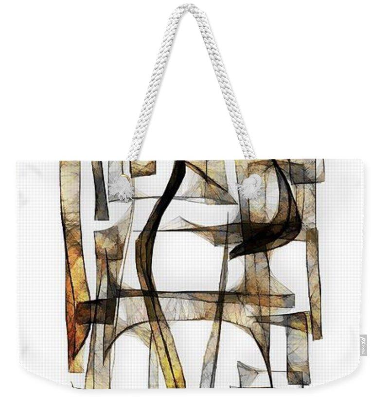 Abstraction Weekender Tote Bag featuring the digital art Abstraction 2430 by Marek Lutek