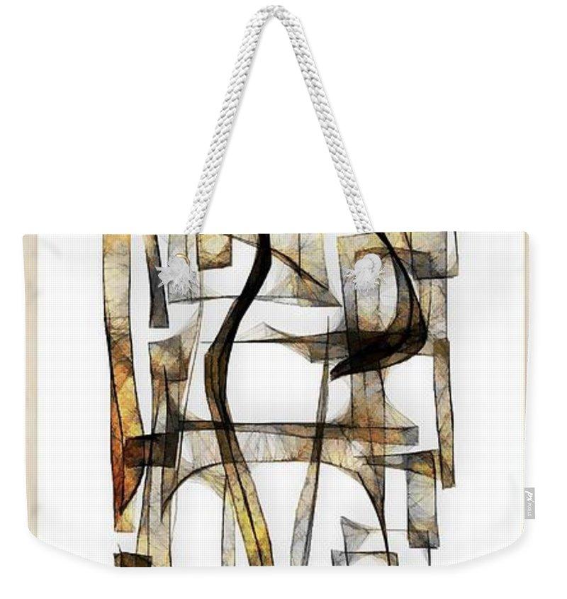 Abstraction Weekender Tote Bag featuring the digital art Abstraction 2431 by Marek Lutek