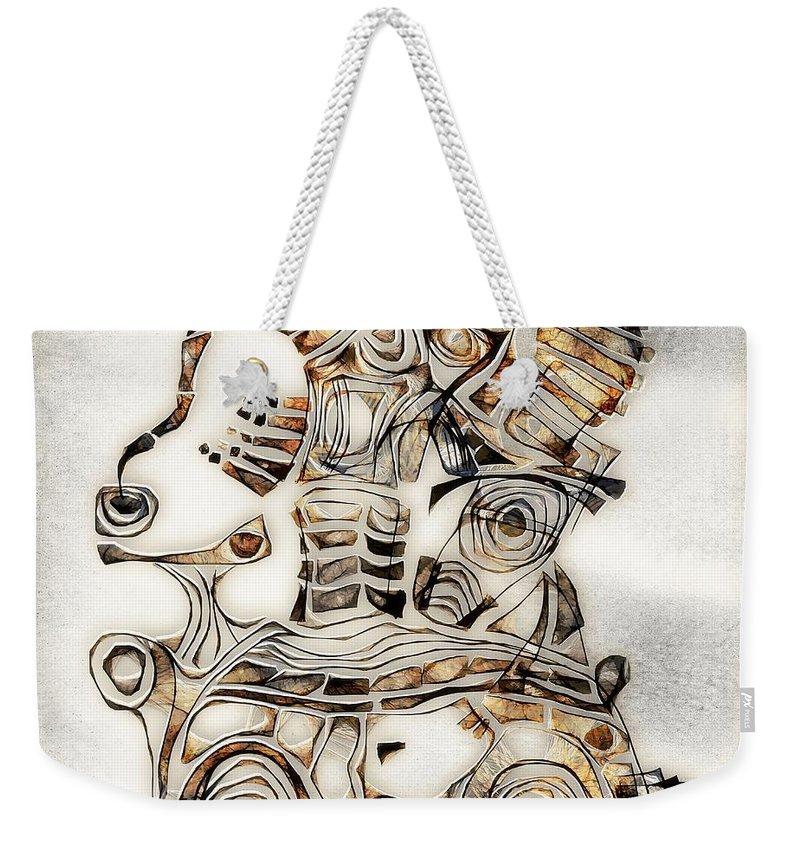 Abstraction Weekender Tote Bag featuring the digital art Abstraction 2807 by Marek Lutek