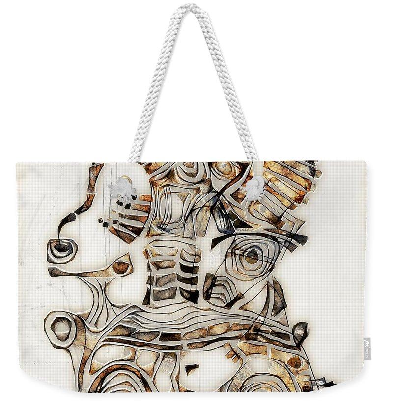 Abstraction Weekender Tote Bag featuring the digital art Abstraction 2810 by Marek Lutek