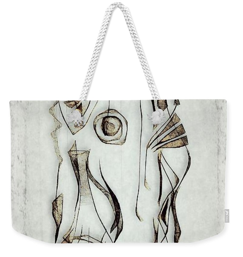 Abstraction Weekender Tote Bag featuring the digital art Abstraction 2823 by Marek Lutek