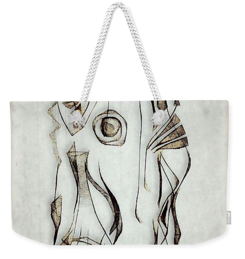 Abstraction Weekender Tote Bag featuring the digital art Abstraction 2824 by Marek Lutek