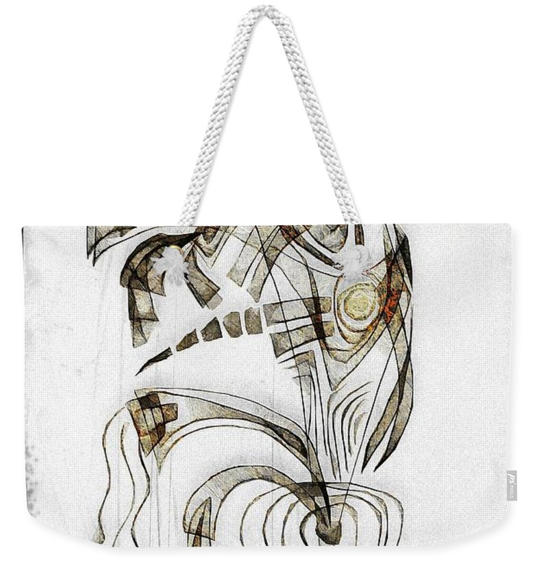 Abstraction Weekender Tote Bag featuring the digital art Abstraction 2831 by Marek Lutek