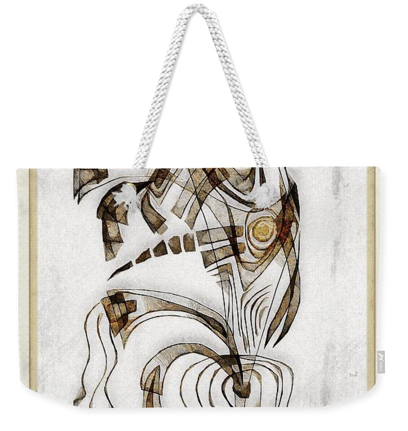 Abstraction Weekender Tote Bag featuring the digital art Abstraction 2833 by Marek Lutek
