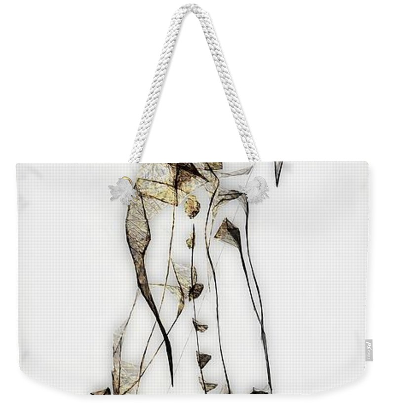Abstraction Weekender Tote Bag featuring the digital art Abstraction 2834 by Marek Lutek