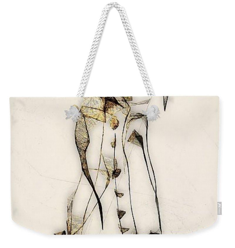 Abstraction Weekender Tote Bag featuring the digital art Abstraction 2836 by Marek Lutek