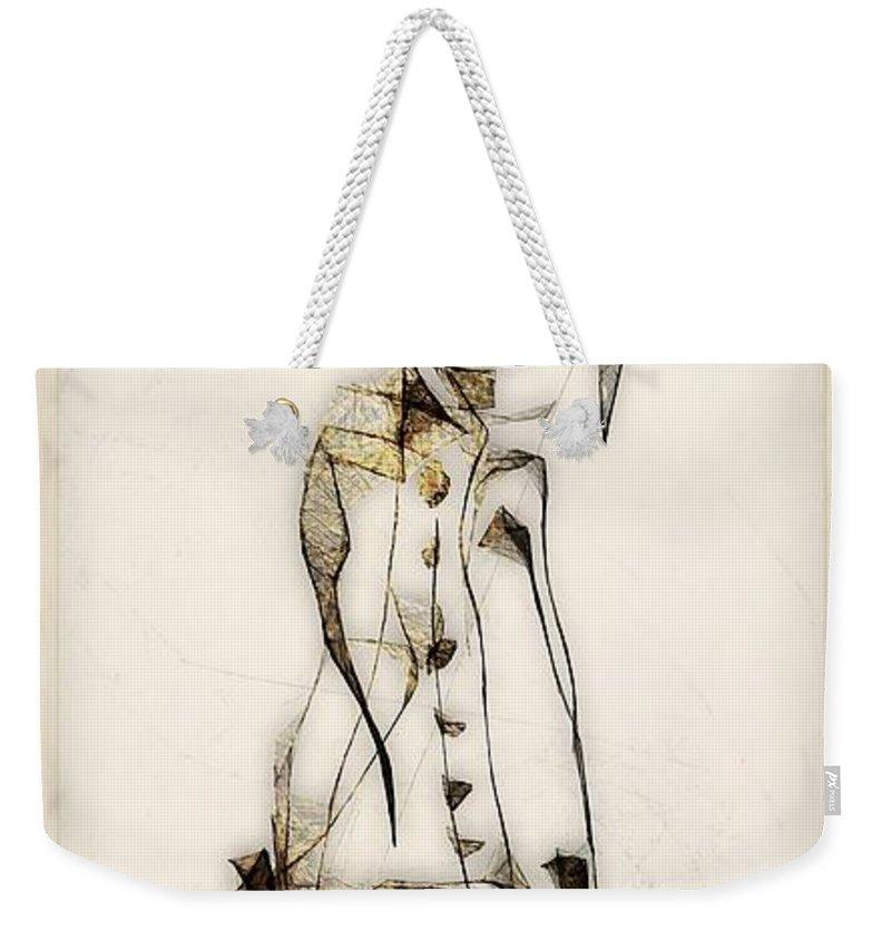 Abstraction Weekender Tote Bag featuring the digital art Abstraction 2837 by Marek Lutek