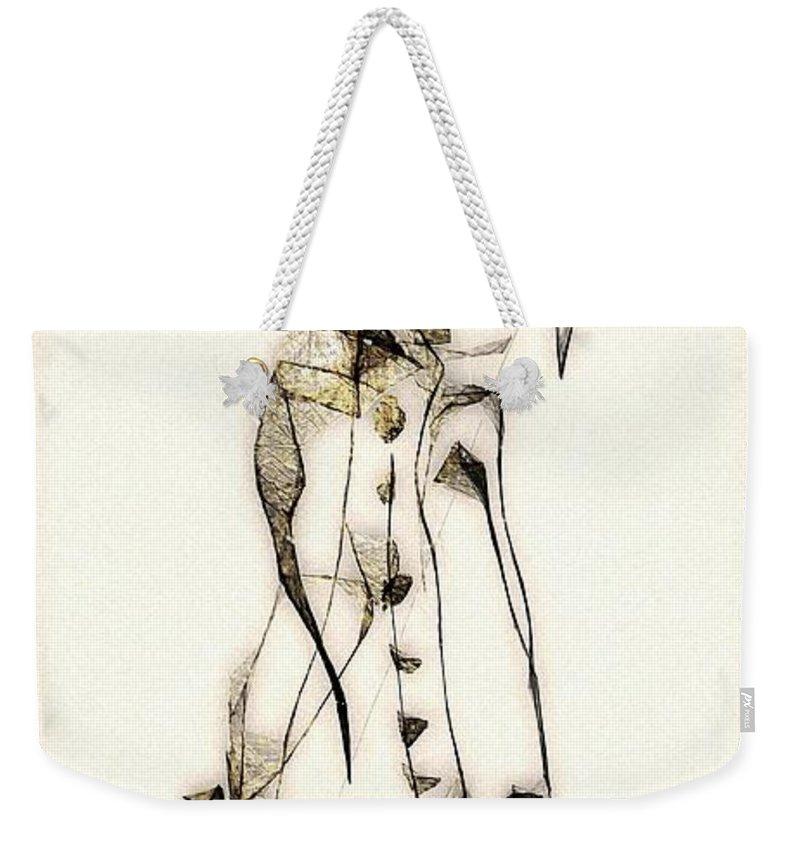 Abstraction Weekender Tote Bag featuring the digital art Abstraction 2840 by Marek Lutek