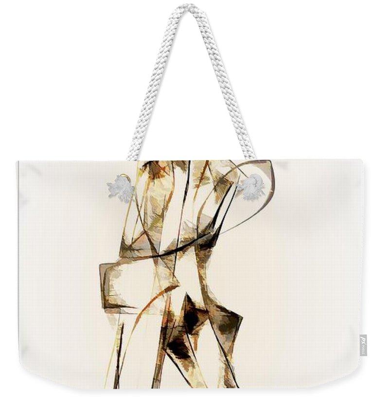 Abstraction Weekender Tote Bag featuring the digital art Abstraction 2914 by Marek Lutek