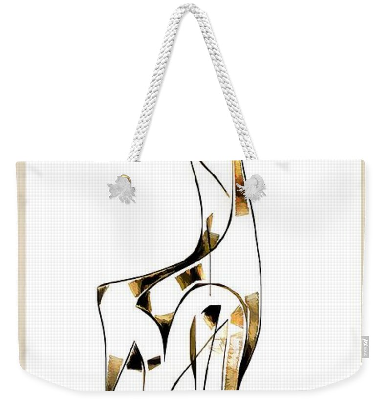 Abstraction Weekender Tote Bag featuring the digital art Abstraction 2919 by Marek Lutek