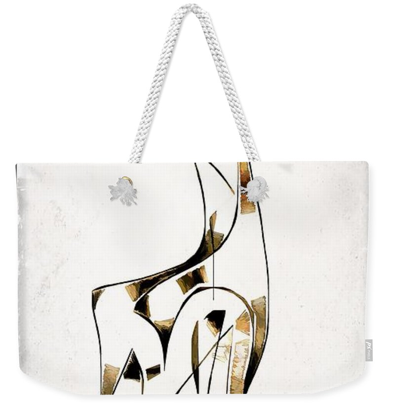 Abstraction Weekender Tote Bag featuring the digital art Abstraction 2922 by Marek Lutek