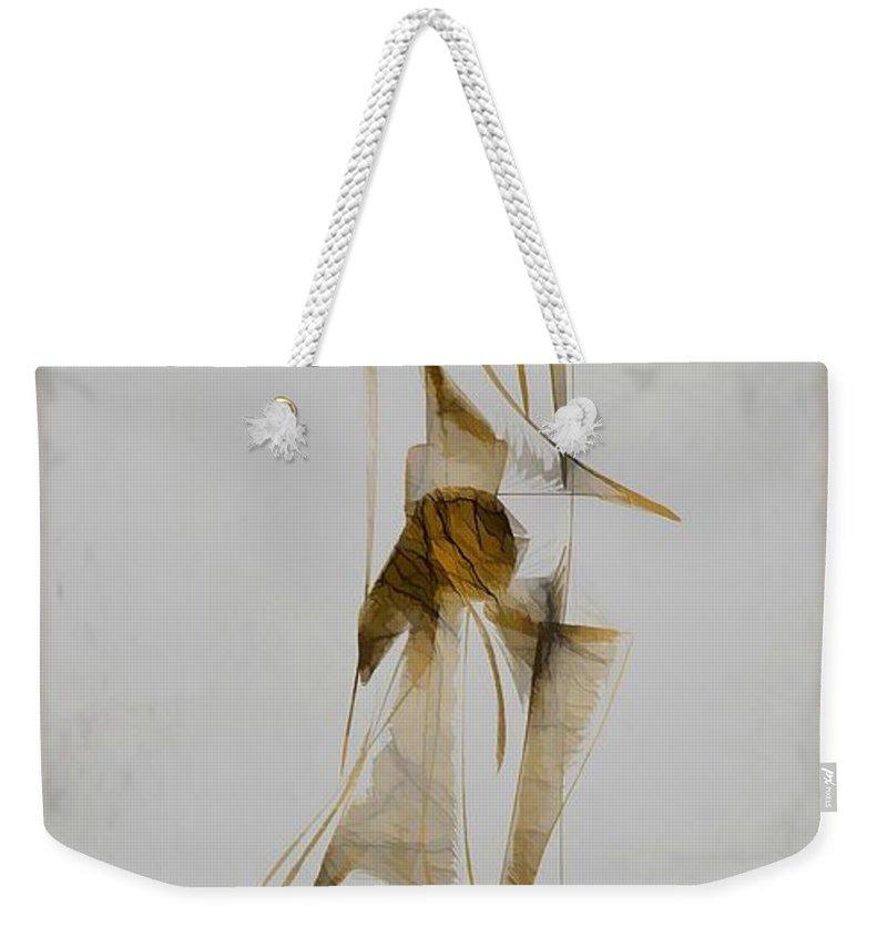 Abstraction Weekender Tote Bag featuring the digital art Abstraction 2931 by Marek Lutek