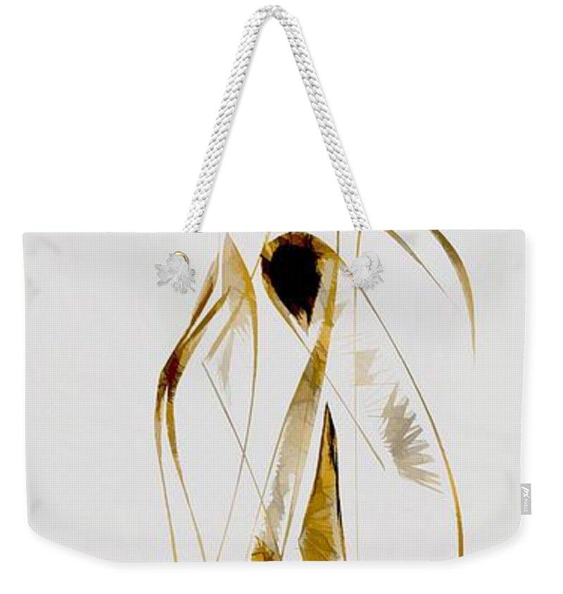 Abstraction Weekender Tote Bag featuring the digital art Abstraction 2933 by Marek Lutek