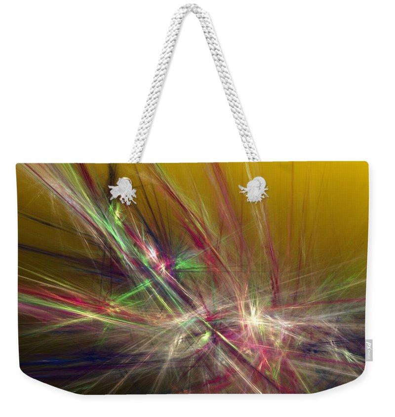Fine Art Digital Art Weekender Tote Bag featuring the digital art Abstracty 110310 by David Lane