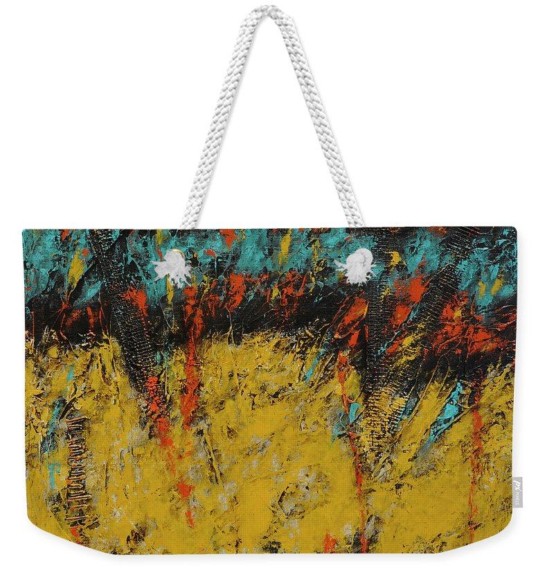 Acrylic Weekender Tote Bag featuring the painting Abundance 2 by Jim Benest
