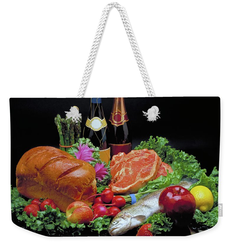 Gourmet Weekender Tote Bag featuring the photograph Abundance Still Life by Marie Hicks