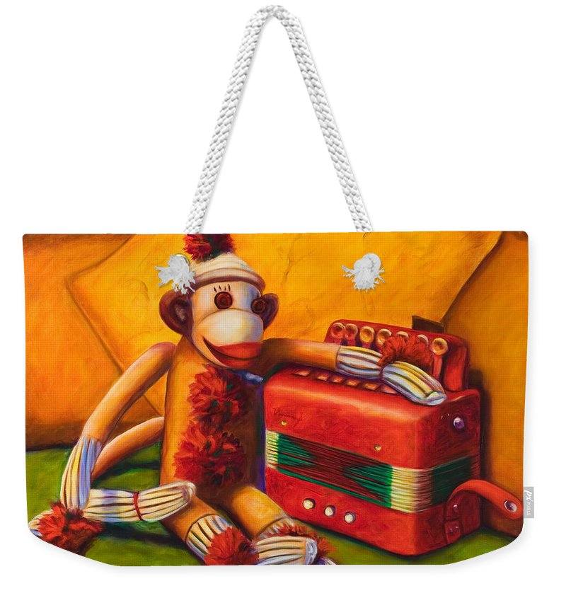Children Weekender Tote Bag featuring the painting Accordion by Shannon Grissom