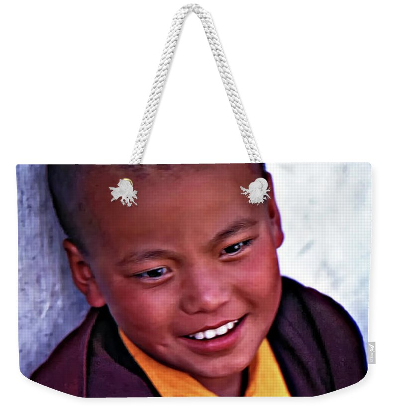 Thailand Weekender Tote Bag featuring the photograph Achieving Joy - A Leonard Cohen Quote by Steve Harrington