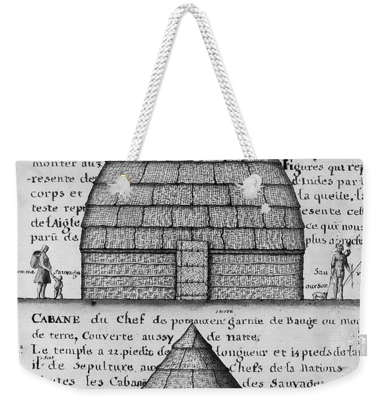 1732 Weekender Tote Bag featuring the photograph Acolapissa Temple & Cabin by Granger