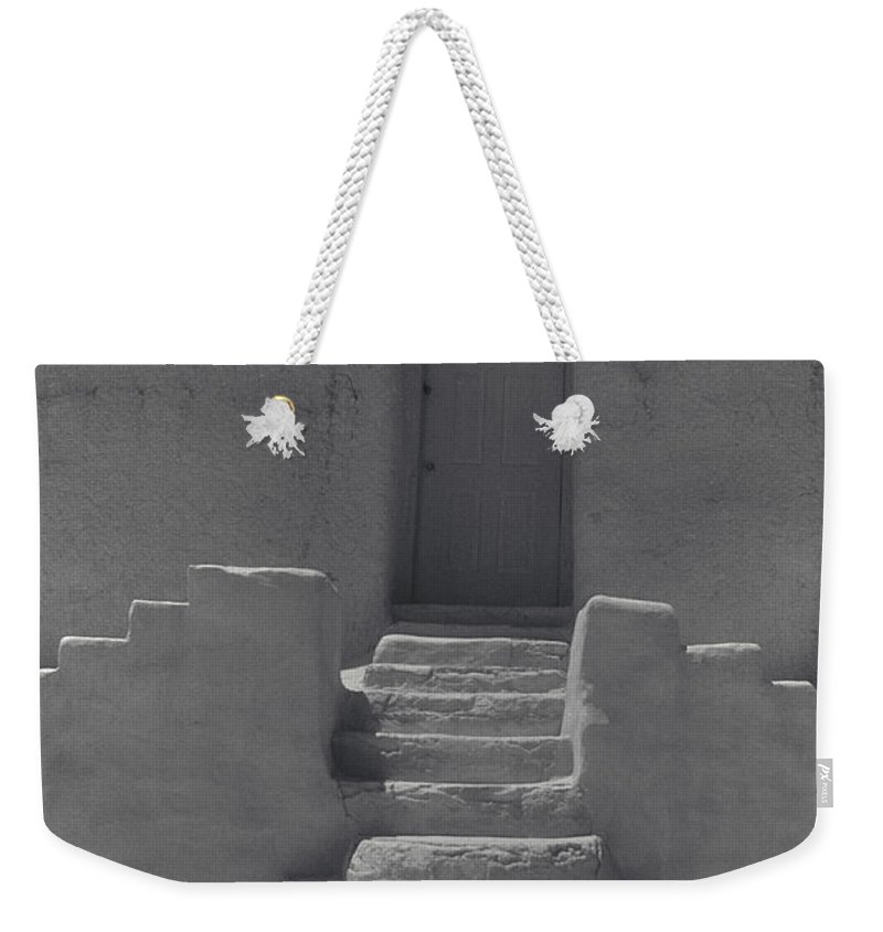 Acoma Weekender Tote Bag featuring the photograph Acoma Steps by Jerry McElroy