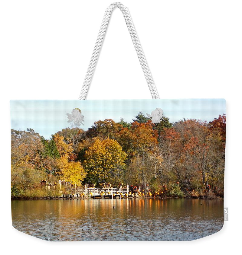 Roger Williams Park Weekender Tote Bag featuring the photograph Across The Pond by Catherine Gagne